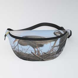 Great Blue Herons Nesting Fanny Pack