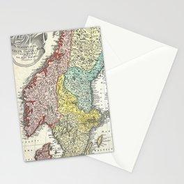 Vintage Map of Scandinavia (1730)  Stationery Cards