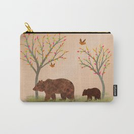 Walk In The Woods With Mama Bear Carry-All Pouch