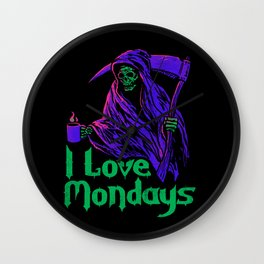I Love Mondays Wall Clock