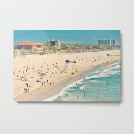 Tiny Beach People Metal Print