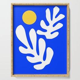 Henri Matisse - Leaves - Deep Blue Serving Tray