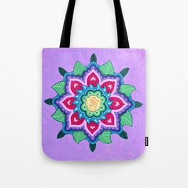 Rose Mandala 2 by Soozie Wray Tote Bag