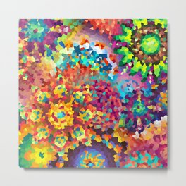 Party of Colors Metal Print