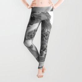 Pencil Sketch of Kuckabura  Leggings