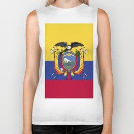 Ecuador flag emblem Biker Tank