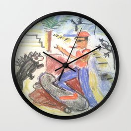 Galapagos Chillen Wall Clock