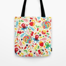 Candy Pattern - White Tote Bag
