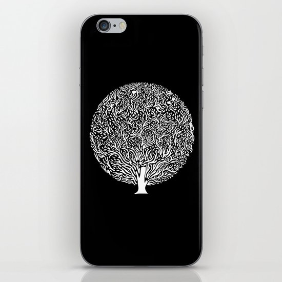 Black and White Tree iPhone & iPod Skin