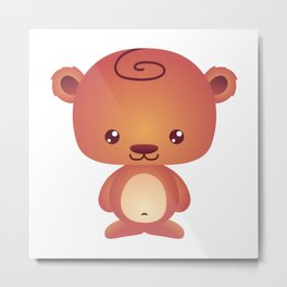 Cute Little Teddy Bear Metal Print