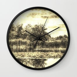 Liliy Pond Vintage Wall Clock
