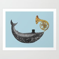 Whale Song - colour option Art Print
