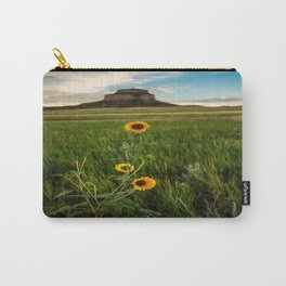 Sunflowers on the Western Prairie - Flowers and Landscape Near Scottsbluff Nebraska Carry-All Pouch