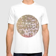 Summer brings the flowers MEDIUM White Mens Fitted Tee