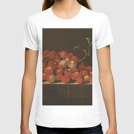Adriaen Coorte - Wild strawberries on a ledge T-shirt