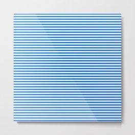 TINY STRIPE ((true blue)) Metal Print