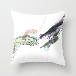 The Creation of Man Throw Pillow