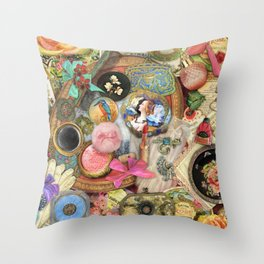 Vintage Vanity Throw Pillow