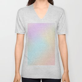 Modern blush pink teal coral watercolor gradient Unisex V-Neck
