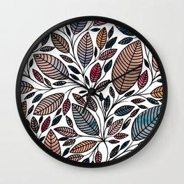 Leaf Illustration Wall Clock