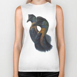 Northern Cassowary, tropical bird in the nature of New Guinea Biker Tank