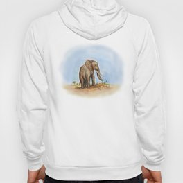 The Majestic African Elephant Hoody