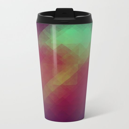 Jelly Pixel Metal Travel Mug