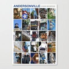 Andersonville Neighborhood Poster Canvas Print