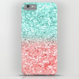 Summer Vibes Glitter #1 #coral #mint #shiny #decor #art #society6 iPhone Case