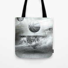 1891 - Basketball Tote Bag