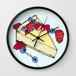 Cheesecake with Toppings Wall Clock