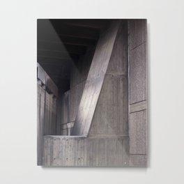 Brutalist Geometry Metal Print