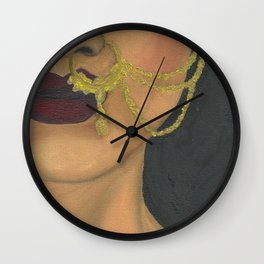 Woman With a Nose Ring Wall Clock