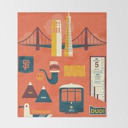 Sanfrancisco Throw Blanket