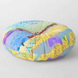 FAUVISTa Sailboats Floor Pillow