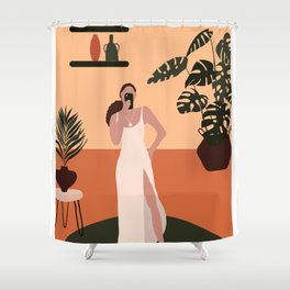 Place Felling (An Abstract Illustration) Shower Curtain