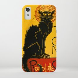 Le Chat Noir The Black Cat Art Nouveau iPhone Case