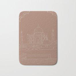 Taj Mahal Drawing Bath Mat