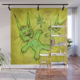 Record Cover for some Jazzed Rabbits, Yellowish. Wall Mural