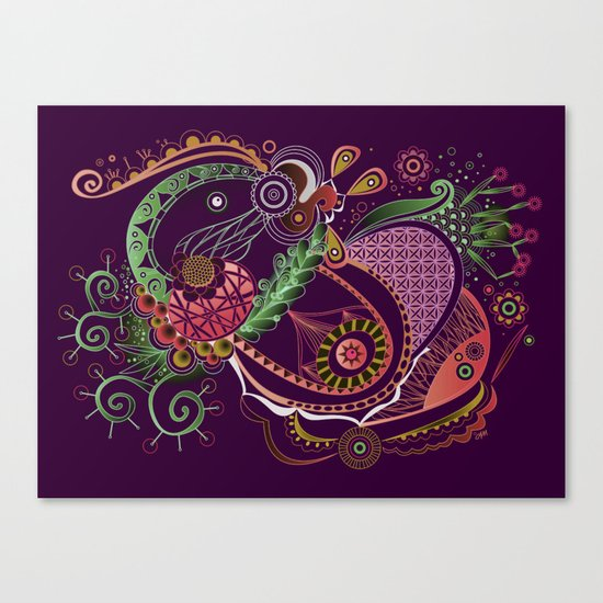 Spring tangle night Canvas Print