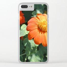 orange flower Clear iPhone Case