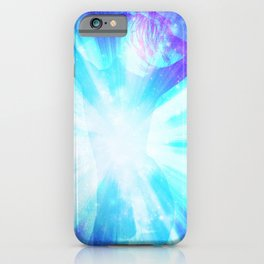 Inner Glow Turquoise Blue iPhone Case