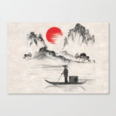 Japan Fisherman Art Canvas Print