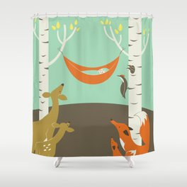 Woodland Baby Shower Curtain