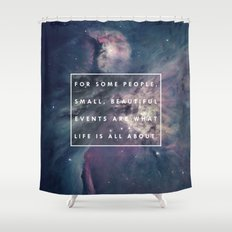 What Life Is All About - Doctor Who Shower Curtain