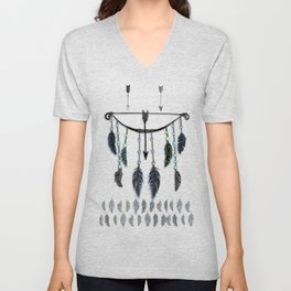 Bow, Arrow, and Feathers Unisex V-Neck