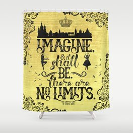 The Crown's Game - No Limits Shower Curtain