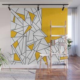 Black and Yellow geometric pattern Wall Mural