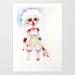 Ball-joined doll Art Print