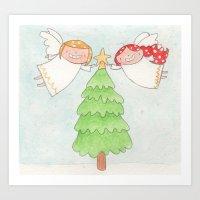 December - Year of Sisters - Watercolor Art Print